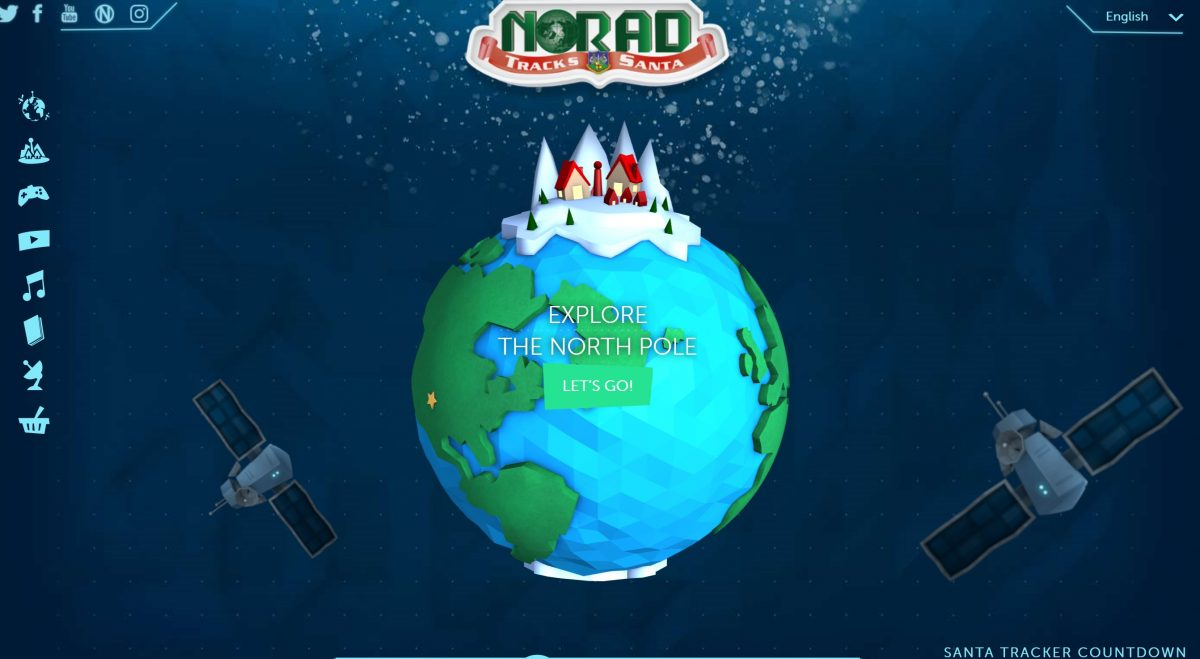 NORAD Santa Claus Tracker Website