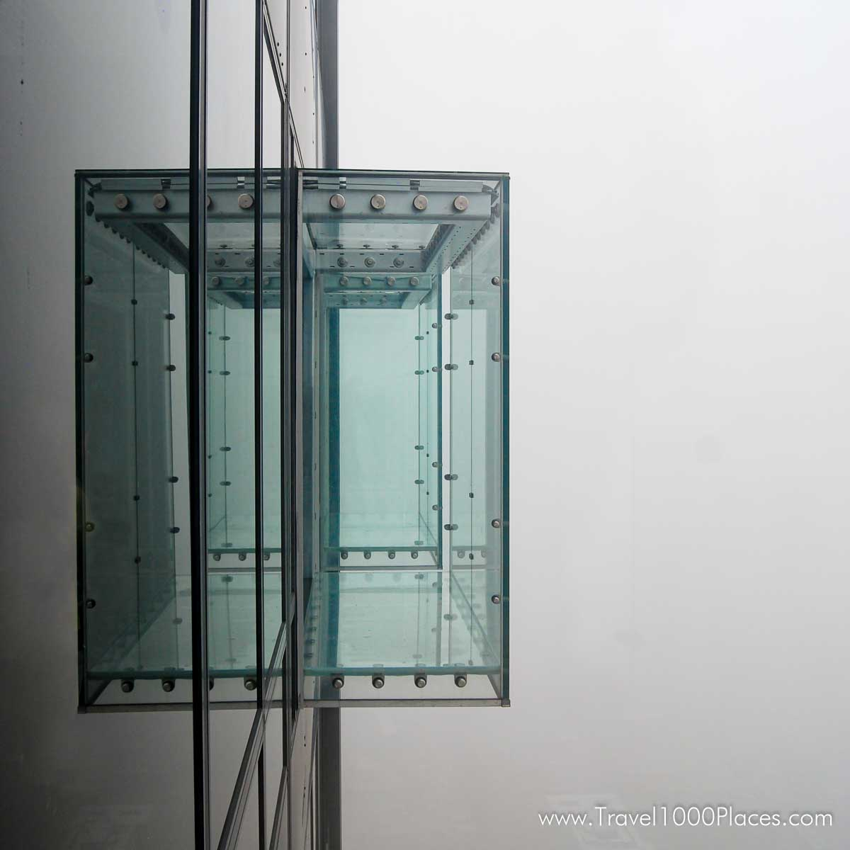One of the glass balconies on Willis Tower / Observation Deck