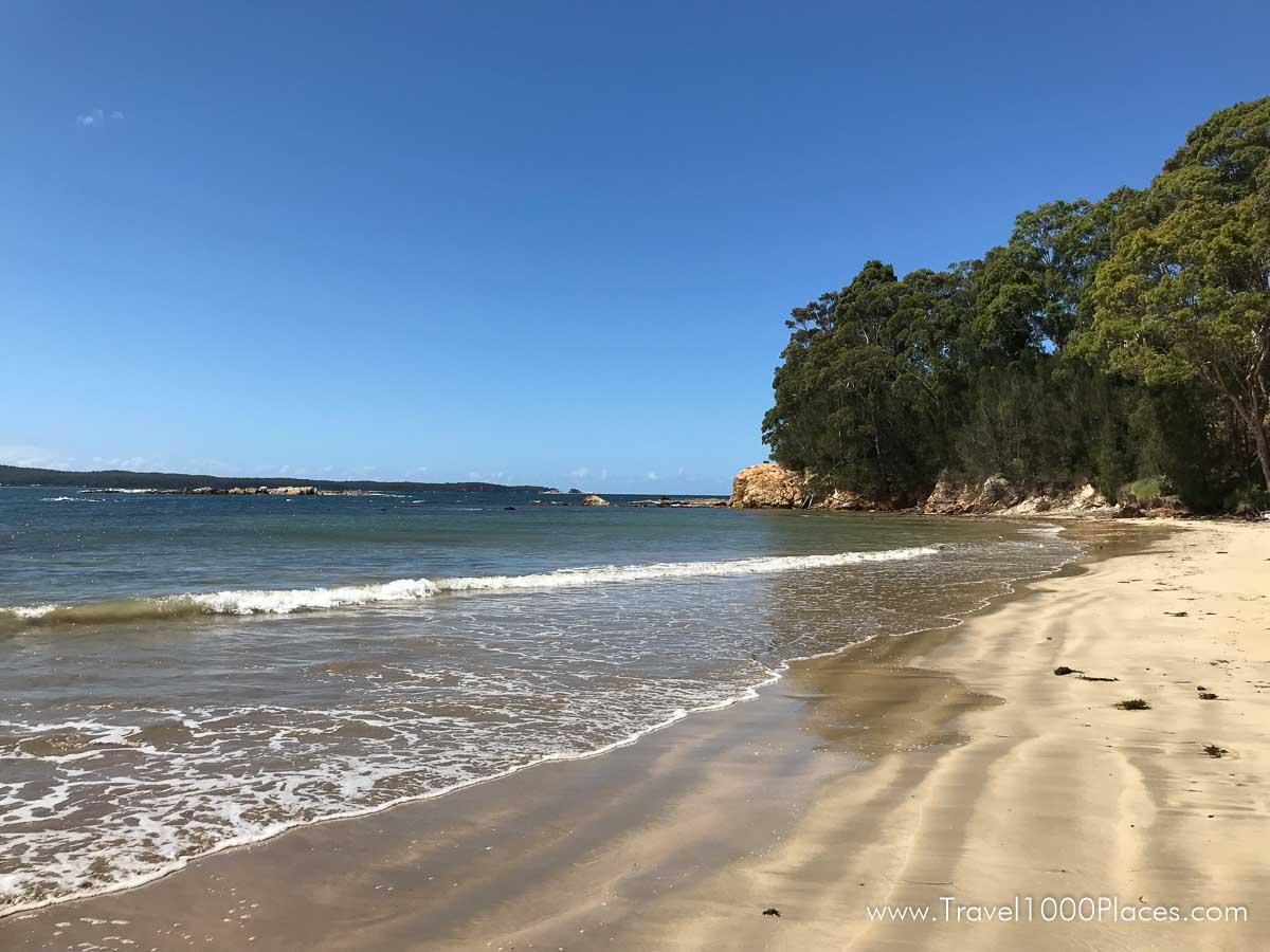 Batehaven beach at the south side of Batemans Bay (Australia, NSW)
