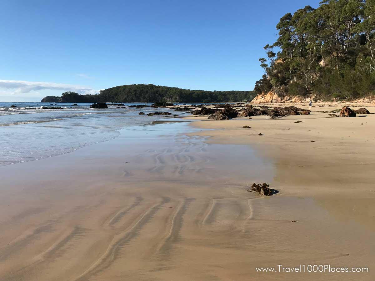 Denhams beach at the south side of Batemans Bay (Australia, NSW)