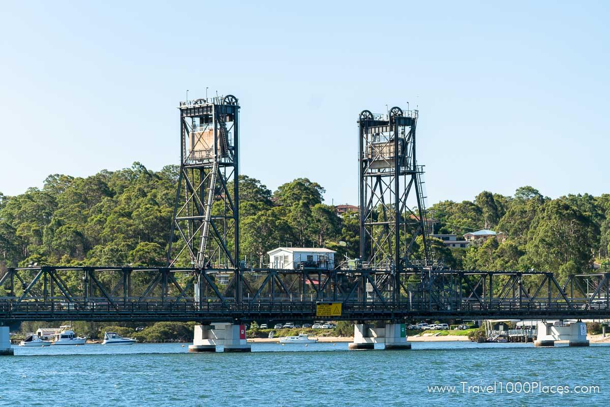 Bridge over Clyde River in Batemans Bay (Australia NSW)